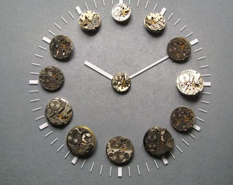 13pcs Assorted Watch Movements, Small Watch Movements, Steampunk Supplies, Watch Movements for Parts, Antique Watch Parts