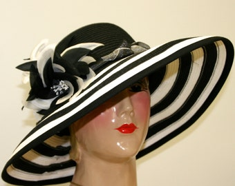 Kentucky Derby Hat Black White Hat
