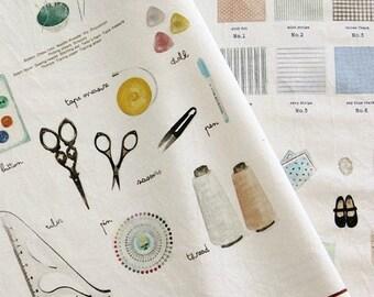 Cotton Linen Fabric Cloth -DIY Cloth Art Manual Cloth-Hand Made Studio  55x16Inches