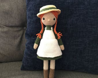 Anne of Green Gables Girl Doll Stuffed Toy (Made to Order)