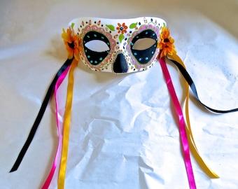 Día de los Muertos/ Day of the  Dead Half Mask