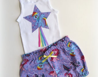 Size 2 My Little Pony Bloomers and Singlet Set