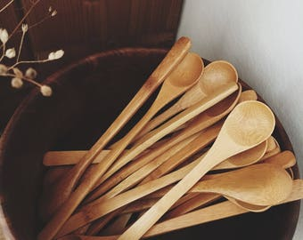 Eco-friendly bamboo wood spoon