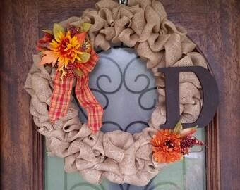 Fall wreath,  burlap wreaths, fall wreath for front door, door decor, door hanging, fall decor, thanksgiving decor, porch decor, fall decor