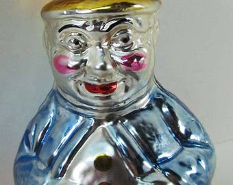 Glass 632 Ornament Roly Poly Clown Inge Glas West Germany Vintage 1980's  Excellent Condition! Traditional Old Wold Ornament