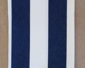 Nautical boat trash bag or wine bag, multi striped with striped contrast, washable, dryable, FREE SHIPPING.
