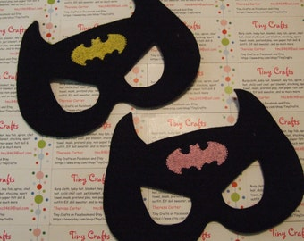 Bat Man inspired felt mask Child Adult for dress up or Halloween Costume Pretend Play Imagination Education party favor