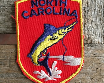 North Carolina Vintage Souvenir Travel Patch from Voyager