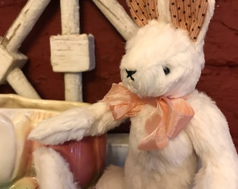 Viscose Mohair White Bunny Rabbit