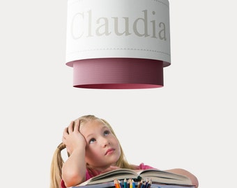 """Paper hanging customizable lamp. """"NOMBRES"""""""