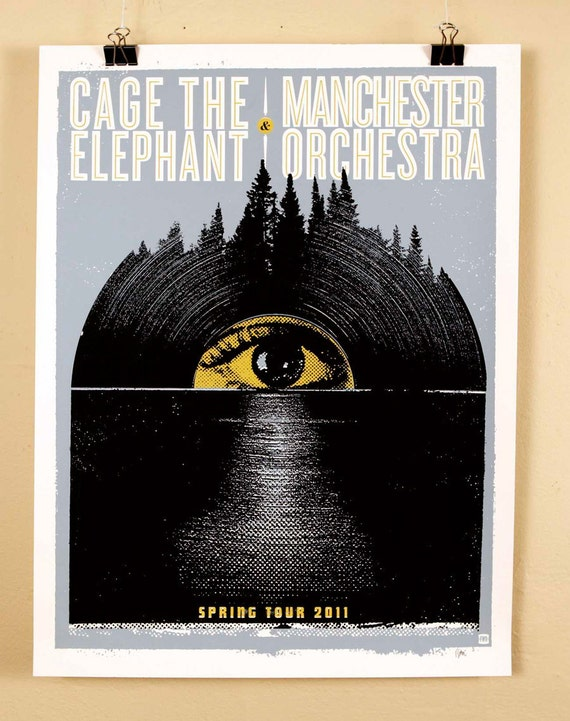Cage The Elephant / Manchester Orchestra  Spring Tour 2011 - artist proof