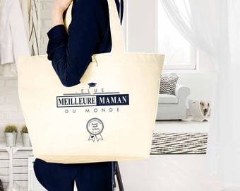 """MOM Christmas gift - bag MOM methods in order to personalize with name """"Voted best MOM in the world"""" - gift birthday MOM"""