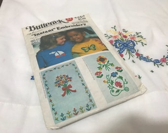 "Vintage ""Instant Embroideryl Butterick Pattern 4345"