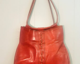 1970's Brown Leather Shoulder Bag