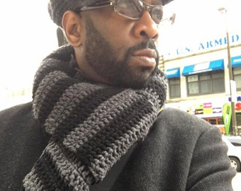 Crochet Kangol Inspired Mens Hat with Matching Scarf
