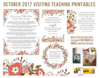 October 2017 Visiting Teaching Message Printable Instant Download - LDS - Mormon - VT Message