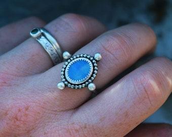 Australian Opal Sterling Silver Ring