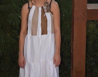 Bohemian Gypsy Sundress, Hippie Summer Festival Dress, Plus Size Goddess Dress, Boho Maxi Beach Dress, Handmade Patchwork Eco Clothing
