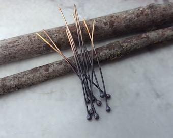 Copper Headpins - Copper Findings - Handmade Copper Headpins - Handmade Copper Findings - Copper Ball Pins - Copper Ball Headpins(FIRESCALE)