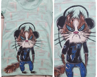 Hand-painted t-shirts Monday Morning