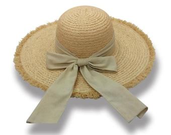 Sun Styles Women's Organic Raffia Floppy Brim Sun Hat AH-038