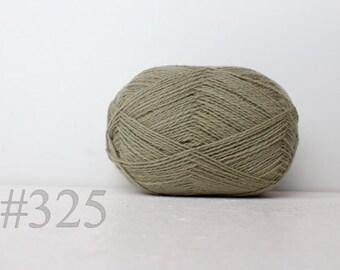 WOOL yarn 100%-knitting yarn -  green grey # 325