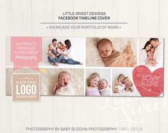Facebook Timeline Cover - Photoshop Template for photographers (FBTL9) - INSTANT DOWNLOAD