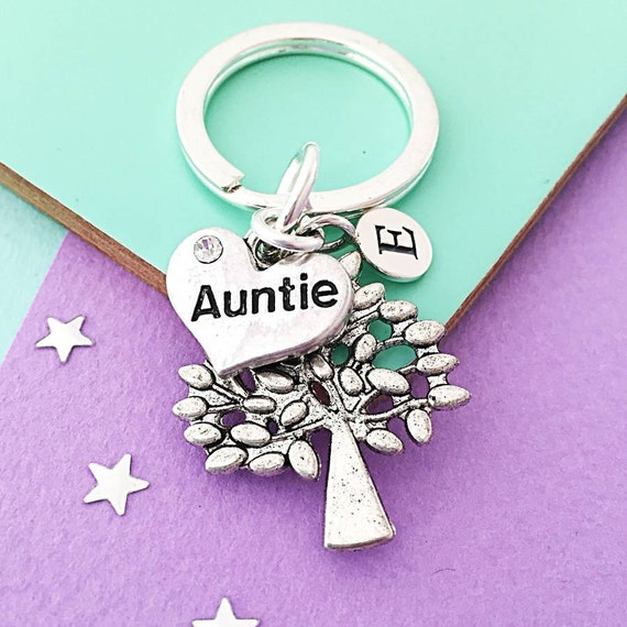 Personalised Auntie Keyring
