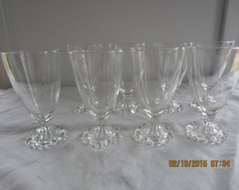 Four Vintage Boopy Juice Footed Glasses