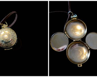Vintage 4 Picture Locket Necklace - Love in Four Chambers