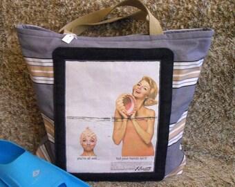 Advertising Kleinerts 1963 vintage pool/beach bag