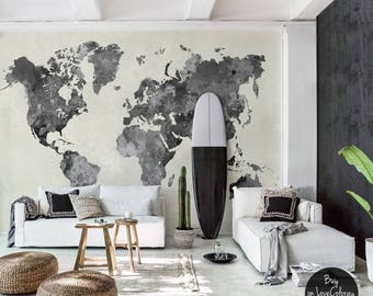 Awesome removable wallpaper wall murals for your by lovecoloray vintage world map removable wallpaper pale wall mural peel and stick wallmural old map mural vintage wall murals 54 gumiabroncs Images