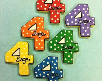 Birthday Party Favor Cookies, Number Shaped Cookies for Birthdays, Number Shaped Cookies for Anniversaries, Birthday Party Favor Idea