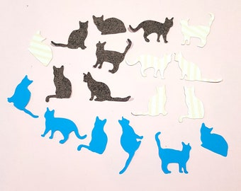 18 decorations, silhouettes of cats for scrapbooking