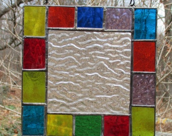 Stained Glass Colorful Panel