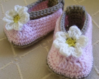 Download Now - CROCHET PATTERN Daisy Baby Ballet Flats - Baby/Toddler - Pattern PDF