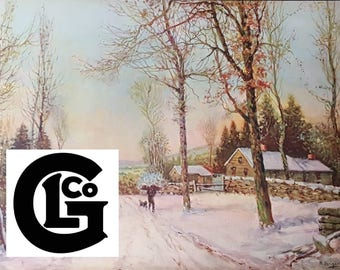 The First Snowfall (GP5357) By N.Briganti