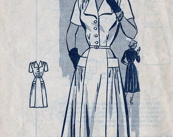 Vintage 1950s Anne Adams Mail Order DRESS Sewing Pattern 4804 Size 34 Bust 34
