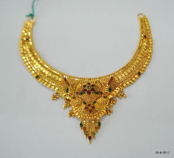 handmade type necklace proddetail gold ka product kundan set sone har