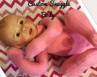 Super Cute Grammies Goodies Fleece Snuggle Body/ Perfect for Younger Collectors/Therapy babies/Movable limbs/YOU CHOOSE HEAD