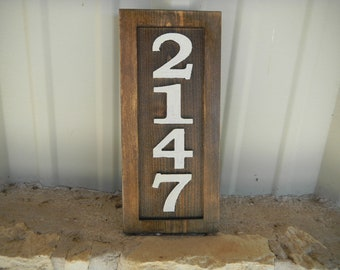 House Number Signs, Address Signs, Wooden, Rustic, Custom  Designed and Carved, Marine Grade UV Finish, Reflective, Unllimited Colors.