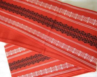 Vintage hakata-ori hanhaba obi for kimono or yukata -USED - Kitsuke - From Japan