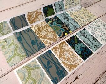 Mini Note Cards, Mini Note Card Set, 3x3 Note Cards, Mini Envelopes, Set of 6 Mini Note Cards with Envelopes, Mini Cards, Mint Julep