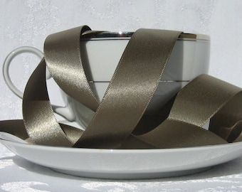 """Sage Green Satin Ribbon double faced 7/8"""" wide  - 3 yards"""
