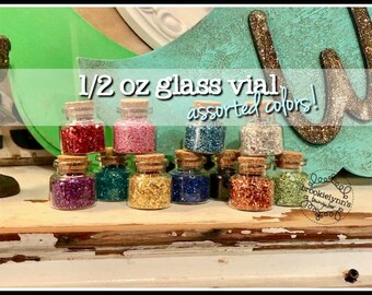 1/2 oz German Glass Glitter, Silver glitter, Black glitter, blue glitter, red glitter, gold glitter, green glitter, orange glitter, rainbow