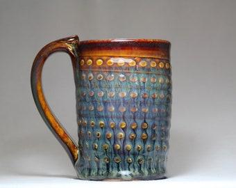 12oz stoneware pottery mug, pottery coffee cup