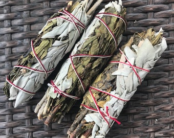 "5"" Sage and Yerba Santa Smudge Stick"