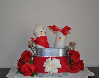 Two Valentine Chickens