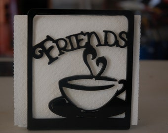 Friends Napkin Holder, Secret Santa Gift, Co Worker Gift, Kitchen Decor, Table Decor, Decorative Napkin Holder, Metal Napkin Holder