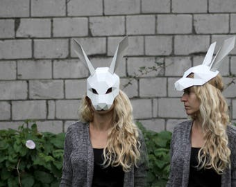 PDF Instant_Download - Rabbit mask / half head mask / DIY